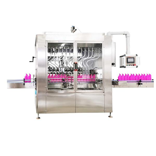 Máquina llenadora de líquidos de botella de cuello en ángulo tipo gravedad