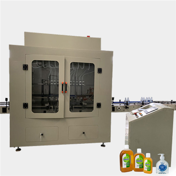 Botella de viscosidad anticorrosiva automática Limpiador de inodoro Máquina de llenado de líquidos