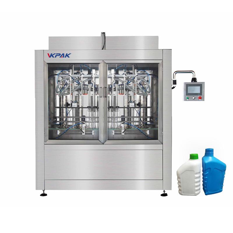Máquina automática de llenado de botellas y líquidos
