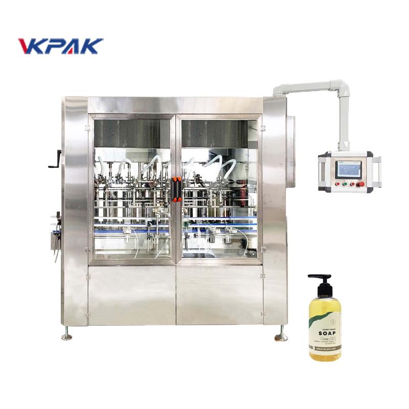 Máquina de llenado de jabón líquido accionada por servomotor lineal automática