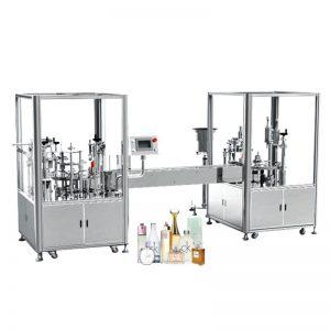 Máquina automática de llenado y tapado de perfumes