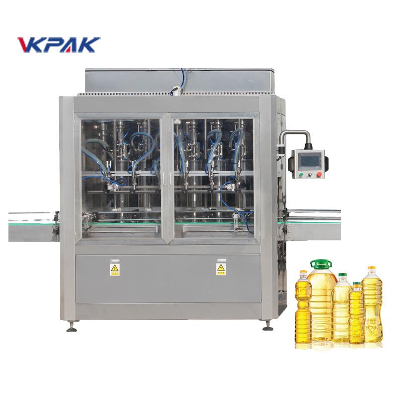 Equipo de embotellado automático del llenado del aceite vegetal del girasol de la botella del animal doméstico