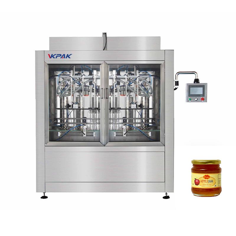 Máquina automática de llenado de salsa tipo pistón
