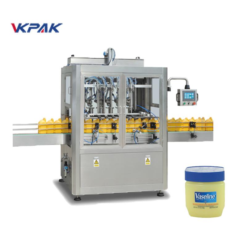 Línea automática de llenado y enfriamiento de vaselina